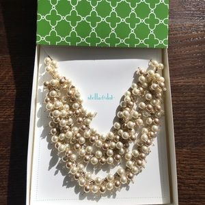 Stella & Dot Multicolor Pearl statement necklace